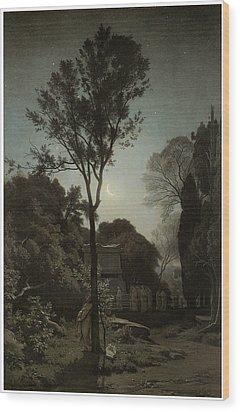 Orpheus Wood Print by Francois-Louis Francais