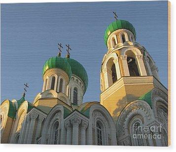 Orthodox Church Of Sts Michael And Constantine- Vilnius Lithuania Wood Print by Ausra Huntington nee Paulauskaite