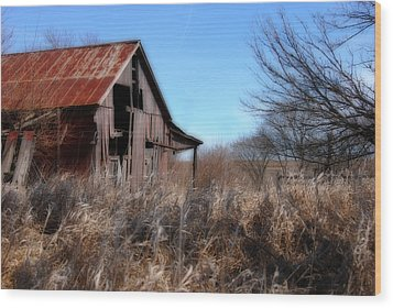 Wood Print featuring the photograph Orton Barn by Kimberleigh Ladd