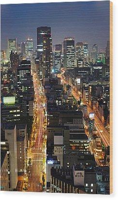 Osaka Wood Print by Photo by ball1515
