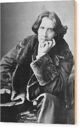 Oscar Wilde 1864-1900, Photograph Wood Print by Everett