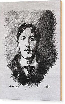 Oscar Wilde Wood Print by John  Nolan