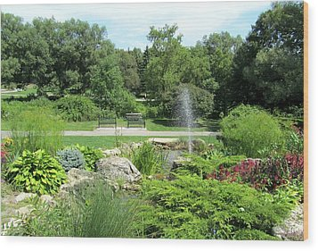 Oshawa Botanical Garden 3 Wood Print by Sharon Steinhaus