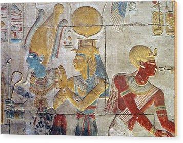 Osiris And Isis, Abydos Wood Print by Joe & Clair Carnegie / Libyan Soup