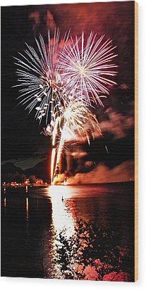 Osoyoos Lake On Fire Wood Print by Don Mann