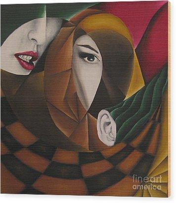 Ossa Wood Print by Kleopatra Aurel