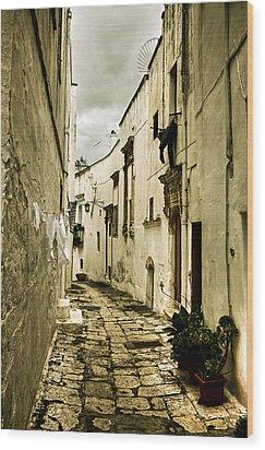 Ostuni - Apulia Wood Print by Joana Kruse