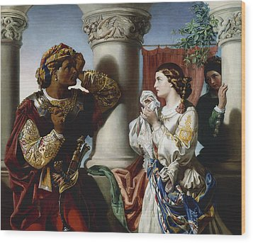 Othello And Desdemona Wood Print by Daniel Maclise