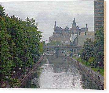 Ottawa Rideau Canal Wood Print by Valentino Visentini