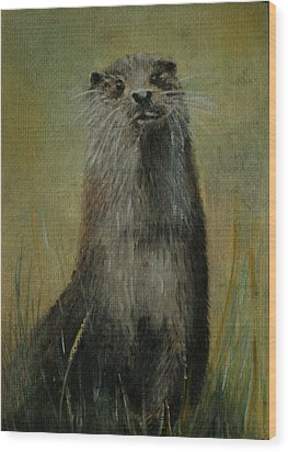 Otter  Miniature Wood Print