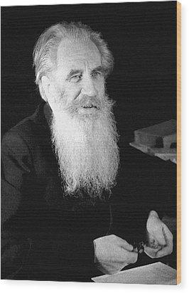 Otto Schmidt, Soviet Geophysicist Wood Print by Ria Novosti