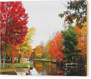Our Canal Wood Print