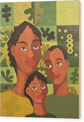 Our Family Wood Print by Maggie Ruth