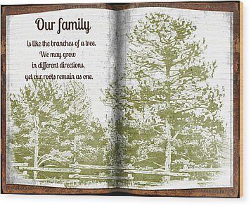 Our Family Roots Wood Print by Michelle Frizzell-Thompson