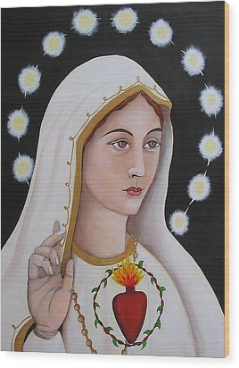 Our Lady Of Fatima Wood Print by Christina Miller