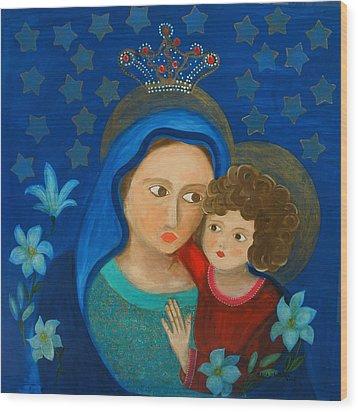 Our Lady Of Good Counsel Wood Print by Maria Matheus Maria Santeira