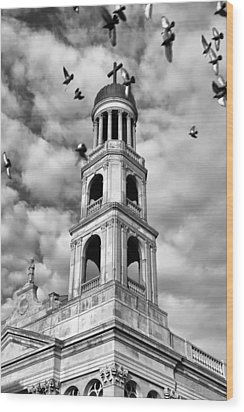Wood Print featuring the photograph Our Lady Of Pompeii Church by Michael Dorn