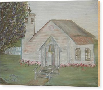 Our Lady Queen Of Angels Church  Wood Print