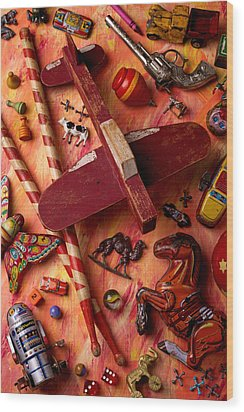 Our Old Toys Wood Print by Garry Gay