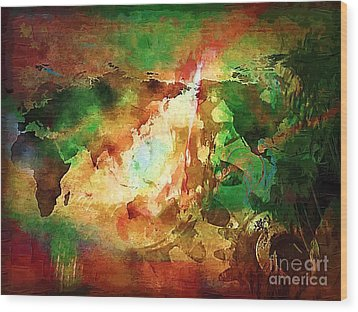 Our Time. Wood Print by Marek Lutek