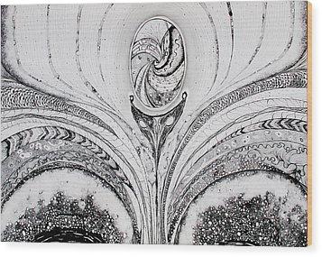 Ousia The Birth Wood Print by Erika Di pasquo