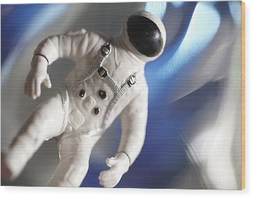 Out In Space Wood Print by Greg Kopriva