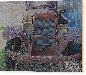 Wood Print featuring the photograph Out Of Service  by Irina Hays