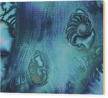 Wood Print featuring the painting Out Of The Depths by Mary Sullivan