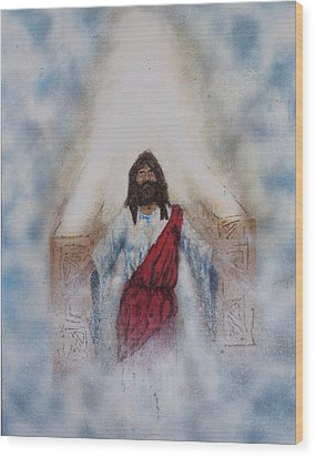 Out Of The Midst Of The Throne Came The Lamb Wood Print by Thomas Lentz