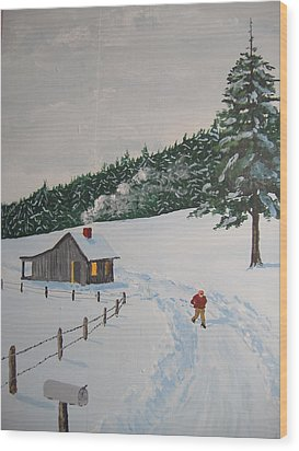 Out To Get The Mail Wood Print by Norm Starks