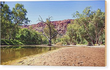 Wood Print featuring the photograph Outback River by Paul Svensen