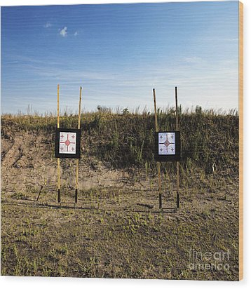 Outdoor Targets Wood Print by Skip Nall