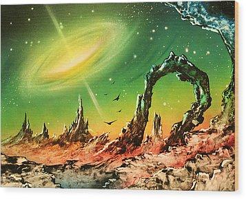 Outer Eye Galaxy Wood Print by Tony Vegas
