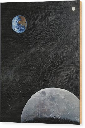 Outer Space Wood Print by Alan Schwartz