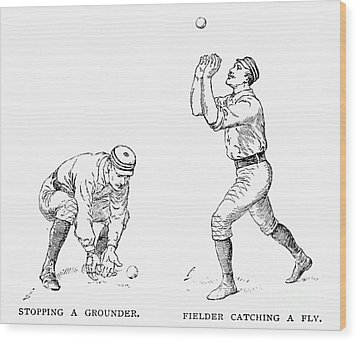 Outfielder, 1889 Wood Print by Granger