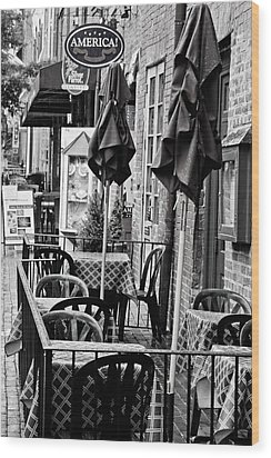 Outside Dining  Wood Print by Randall  Cogle