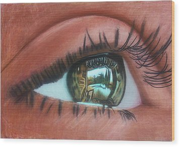 Outside Looking In Wood Print by D Rogale
