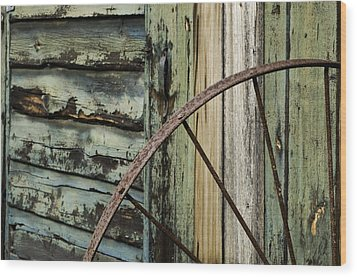 Wood Print featuring the photograph Outside Of An Old Barn by Nancy De Flon