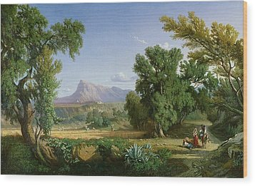 Outskirts Of Valdemusa Wood Print by Adolphe Paul Emile Balfourier