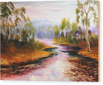 Oven's River Myrtleford Wood Print