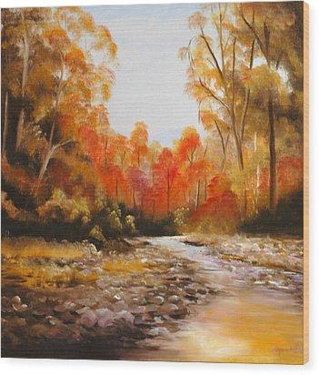 Ovens River Victoria Wood Print