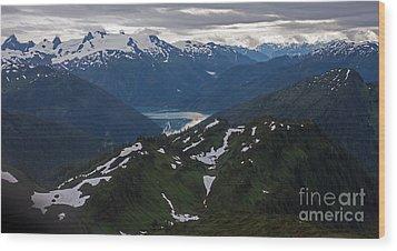 Over Alaska Wood Print by Mike Reid