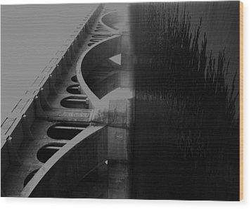 Over The Bridge Wood Print by Jerry Cordeiro