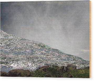Over The Brink Of Niagara Falls  Wood Print by J R Baldini  M Photog