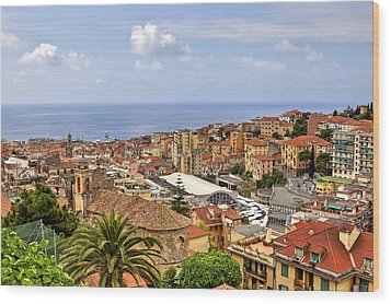 Over The Roofs Of Sanremo Wood Print by Joana Kruse