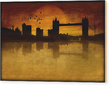 Over The Tower Bridge Wood Print by Tom York Images