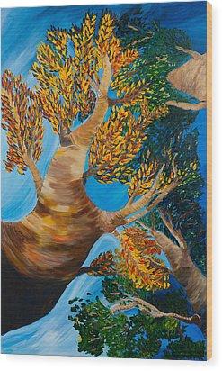 Overhead Wood Print by Dani Altieri Marinucci