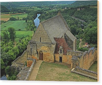 Overlooking The French Countryside Wood Print by Dave Mills