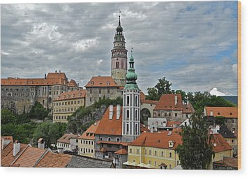 Wood Print featuring the photograph Overview Of Cesky Krumlov by Kirsten Giving