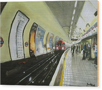 Oxford Circus Station Wood Print by Paul Mitchell
